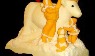 13 espantosas estátuas de queijo 2