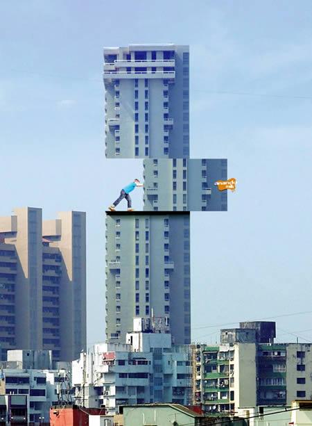 10 publicidades inteligentes em edifícios 1