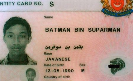 Os cartões de identificação mais bizarros 1