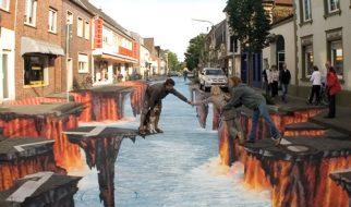 Ilusão de óptica - Rio de lava 11