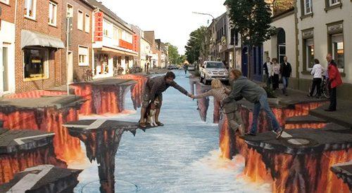 Ilusão de óptica – Rio de lava