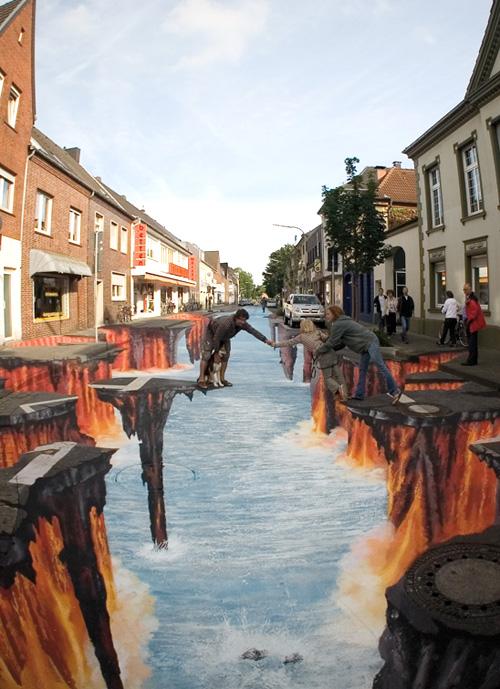 Ilusão de óptica - Rio de lava 2
