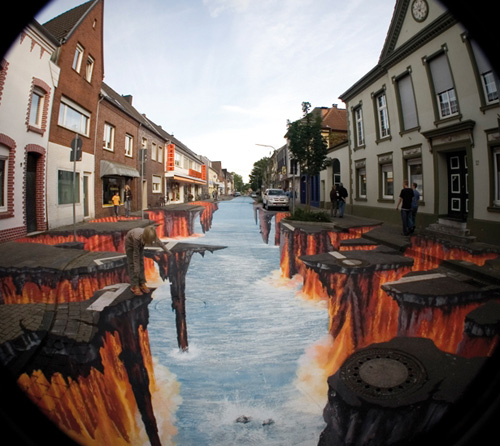 Ilusão de óptica - Rio de lava 3