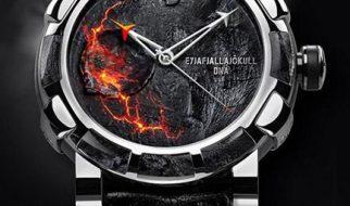Um relogio feitos de rochas e cinzas do vulcão Eyjafjallajökull 2