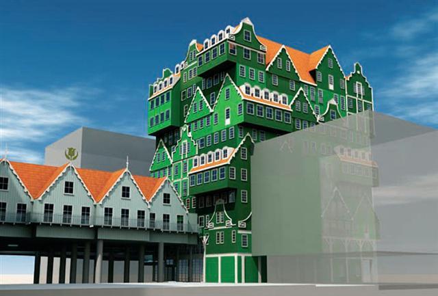 Um hotel feito de casas 3