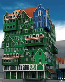 Um hotel feito de casas
