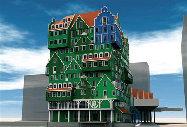 Um hotel feito de casas 1