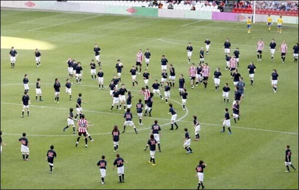Futebol: Athletic Bilbao x 200 crianças 1