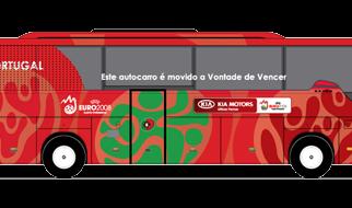 As frases dos 32 veículos que transportarão as delegações durante a Copa do Mundo, na África do Sul 2