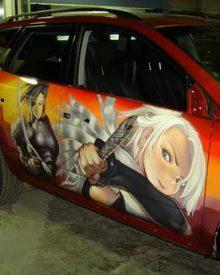 Graffitis e arte em carros