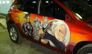 Graffitis e arte em carros 9