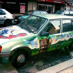Graffitis e arte em carros 34