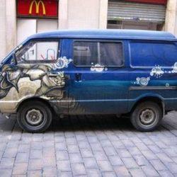 Graffitis e arte em carros 5
