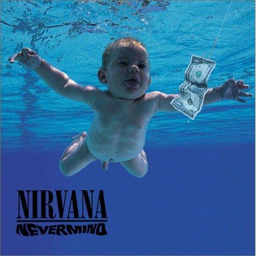 O bebé da capa do cd Nevermind dos Nirvana 1