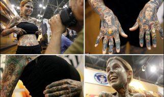 A mulher com mais tatuagens no mundo 13