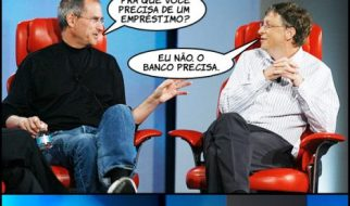 Steve Jobs e Bill Gates à conversa 1