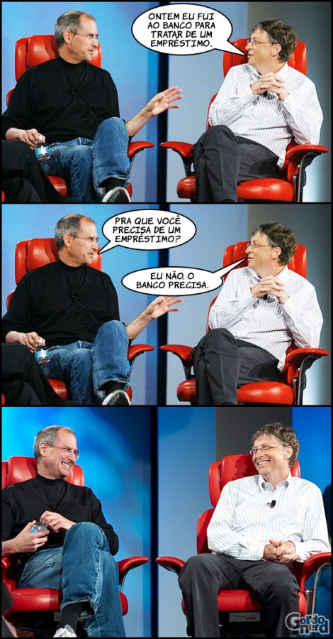 Steve Jobs e Bill Gates à conversa 3