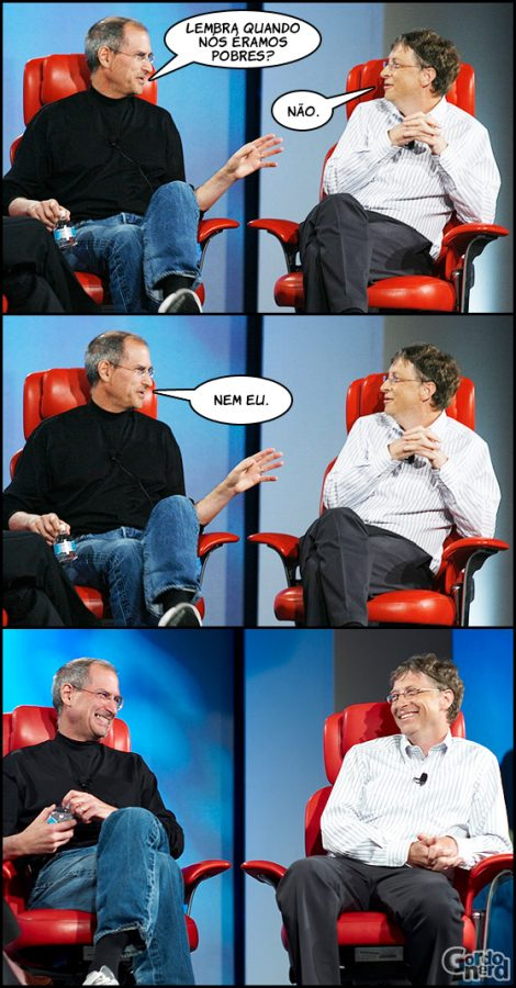 Steve Jobs e Bill Gates à conversa 4