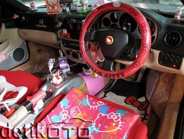 Hello Kitsch: Um Ferrari 360 'Hello Kitty' ou um caso extremo de xuning 4
