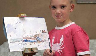Criança vende 33 quadros em meia hora 3