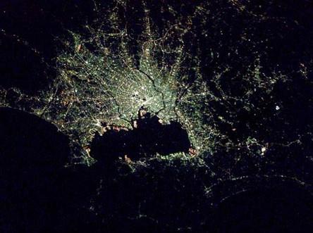 Cidades à noite vistas do céu 9