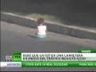 Vídeo Insólito: Uma criança sobrevive a travessia em autoestrada na Turquia 3