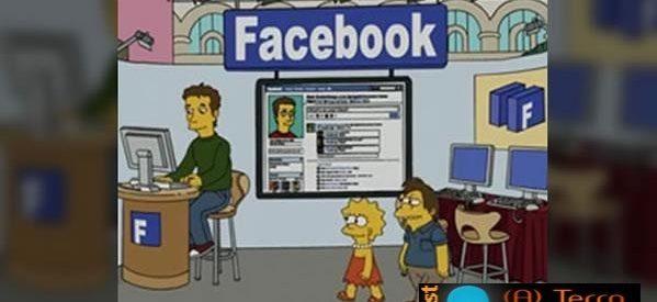 O Facebook chegou aos Simpsons