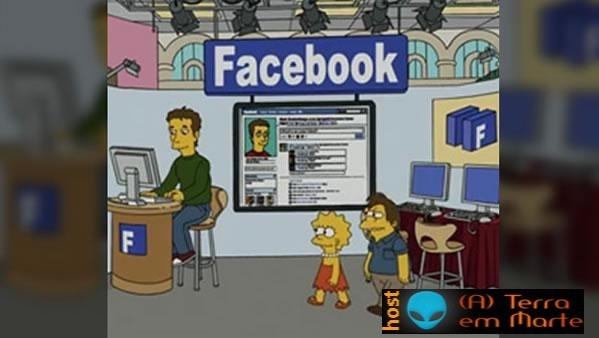 O Facebook chegou aos Simpsons 1