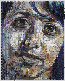 Retratos de lixo por Freeman Zac