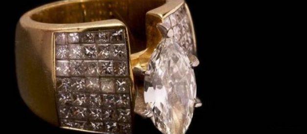 Qual o preço deste anel apreendido a narcotraficantes?