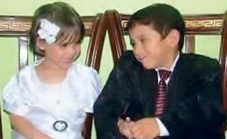 Os noivos mais jovens do mundo