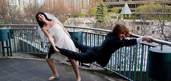 Fotos engraçadas de casamento