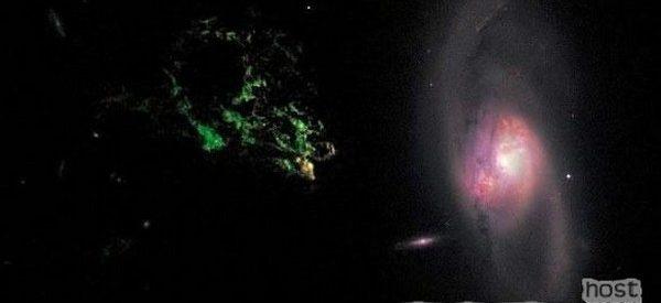 Por que é verde a luz do Objeto de Hanny?