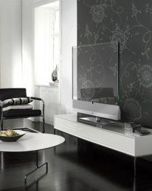 Um aparelho de televisão transparente