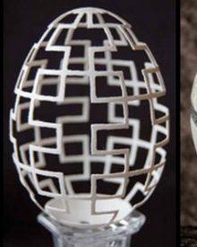 Delicadas e impressionantes esculturas em casca de ovo
