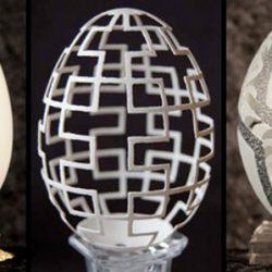 Delicadas e impressionantes esculturas em casca de ovo 2