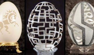 Delicadas e impressionantes esculturas em casca de ovo 4