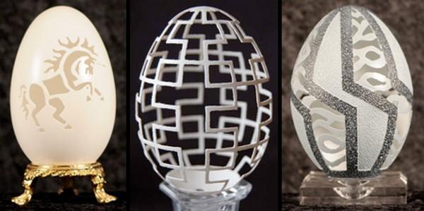 Delicadas e impressionantes esculturas em casca de ovo 1