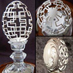 Delicadas e impressionantes esculturas em casca de ovo 10