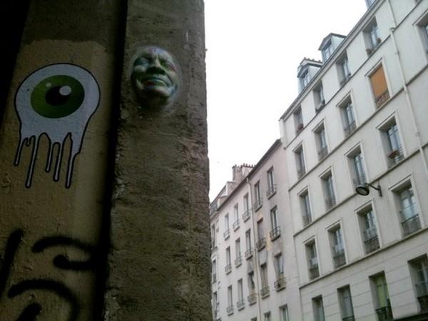 Rostos nas paredes de Paris 2