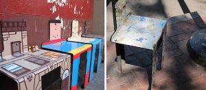 cadeiras nas ruas de NY 1 4