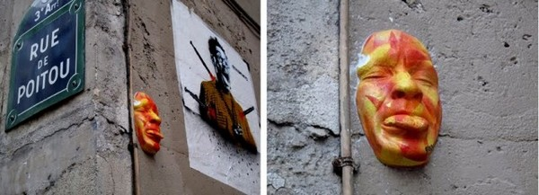 Rostos nas paredes de Paris