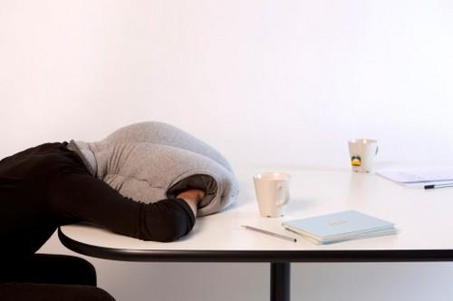 Para descansar no trabalho como uma avestruz 1