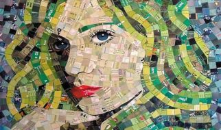 Criando quadros com materiais reciclados 11