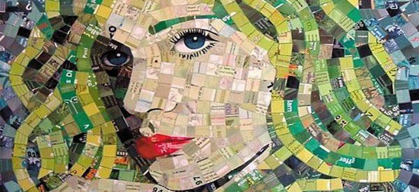 Criando quadros com materiais reciclados