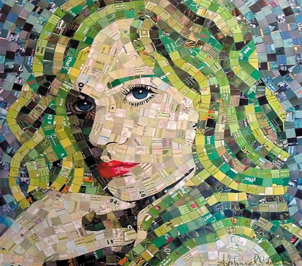 Criando quadros com materiais reciclados 3
