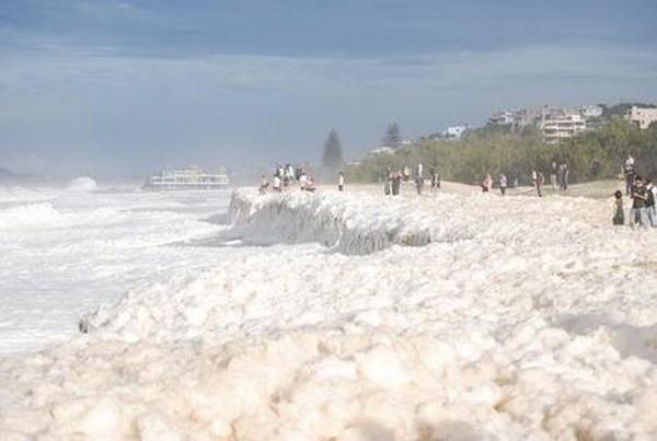 O dia da espuma no mar da Austrália 1