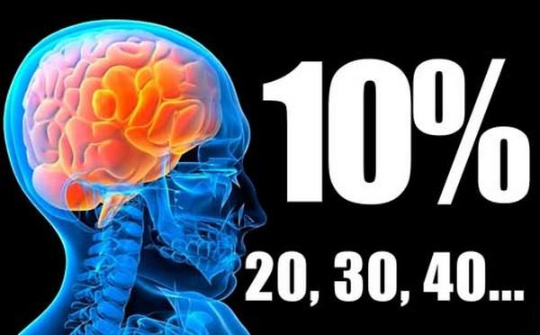usamos 10% do cérebro