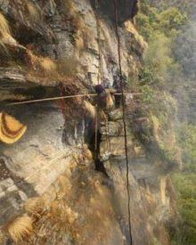 A colheita do mel no Tibete