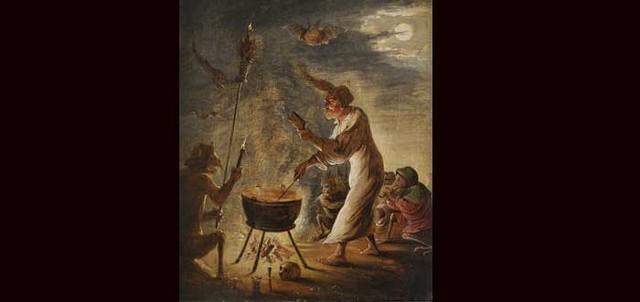 cena de bruxaria